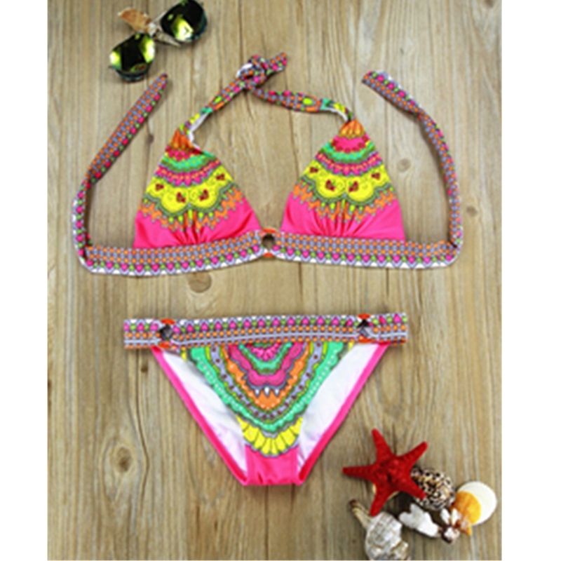 new 2014 bikini swimwear women swimsuit bikinis set sexy floral swimwears vintage 2 colors bathing suits wholesale freeshippingОдежда и ак�е��уары<br><br><br>Aliexpress