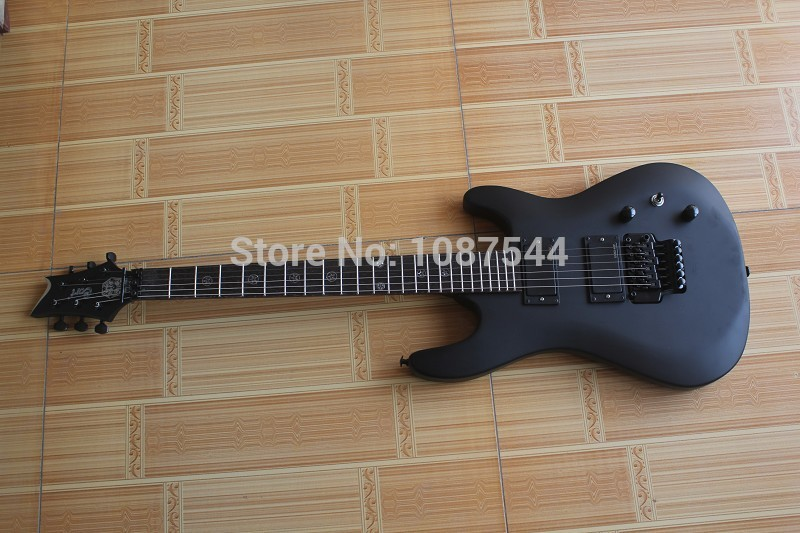 free shipping Top quality Brand Classic Cort EVL-K4 Dark Storm 24 Fret Matte Black Electric Guitar with Floyd rose Tremolo(China (Mainland))
