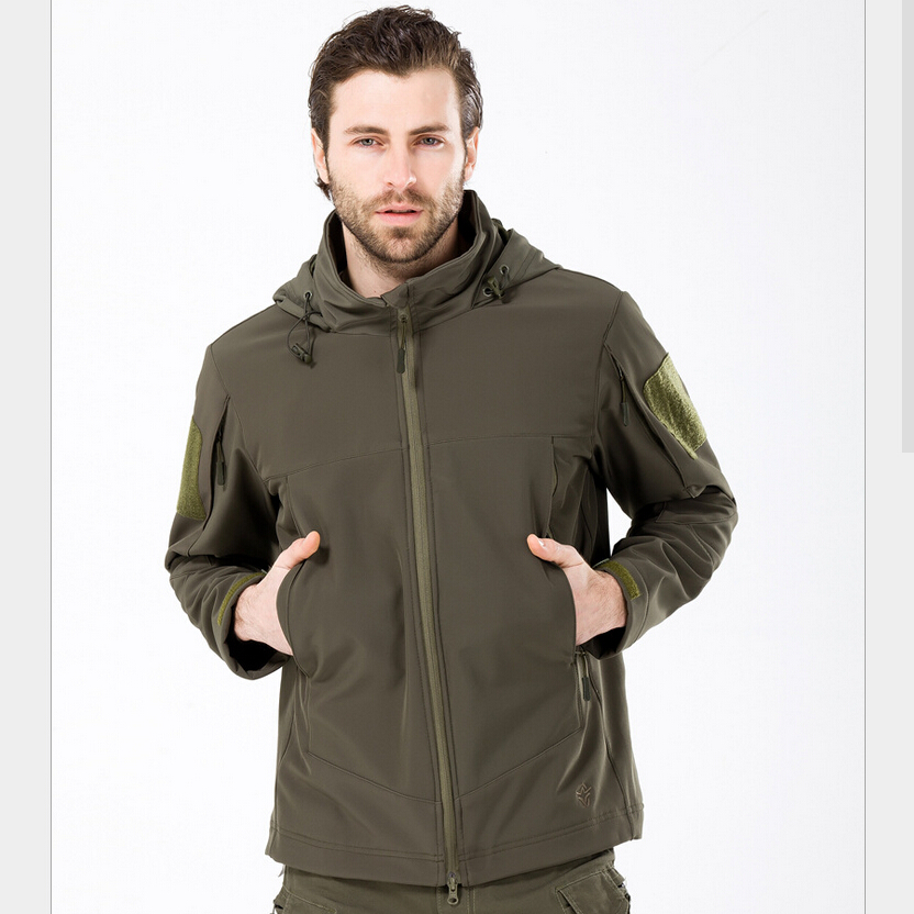 Autumn Military Praetor Tactical Jacket Outdoor Soft Shell Fleece Hooded Outerwear Men Warm Hunting Clothing Casual Windbreaker<br><br>Aliexpress