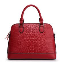 Buy 2017 new fashion casual crocodile skin ladies handbag ladies bag shoulder leather bag for $380.00 in AliExpress store