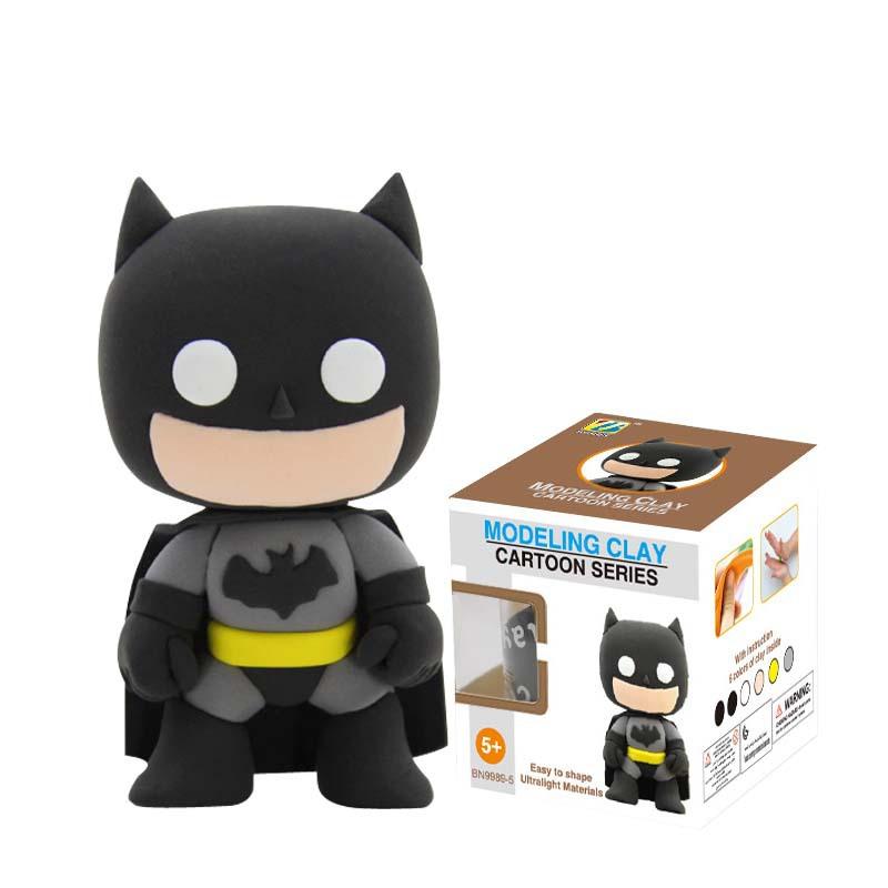 Wholesale Bonnie Clay Eco-Friendly Material Cartoon Batman Playdough LOL DIY Building Toys Kids Gift Children Toys 9989-5