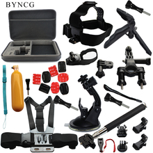 Buy BYNCG Gopro Tripod Accessories Set Go Pro Kit Mount SJ4000 GoPro Hero 5 4 3 Black Edition Camera Case Xiaomi yi Eken H9 for $36.58 in AliExpress store
