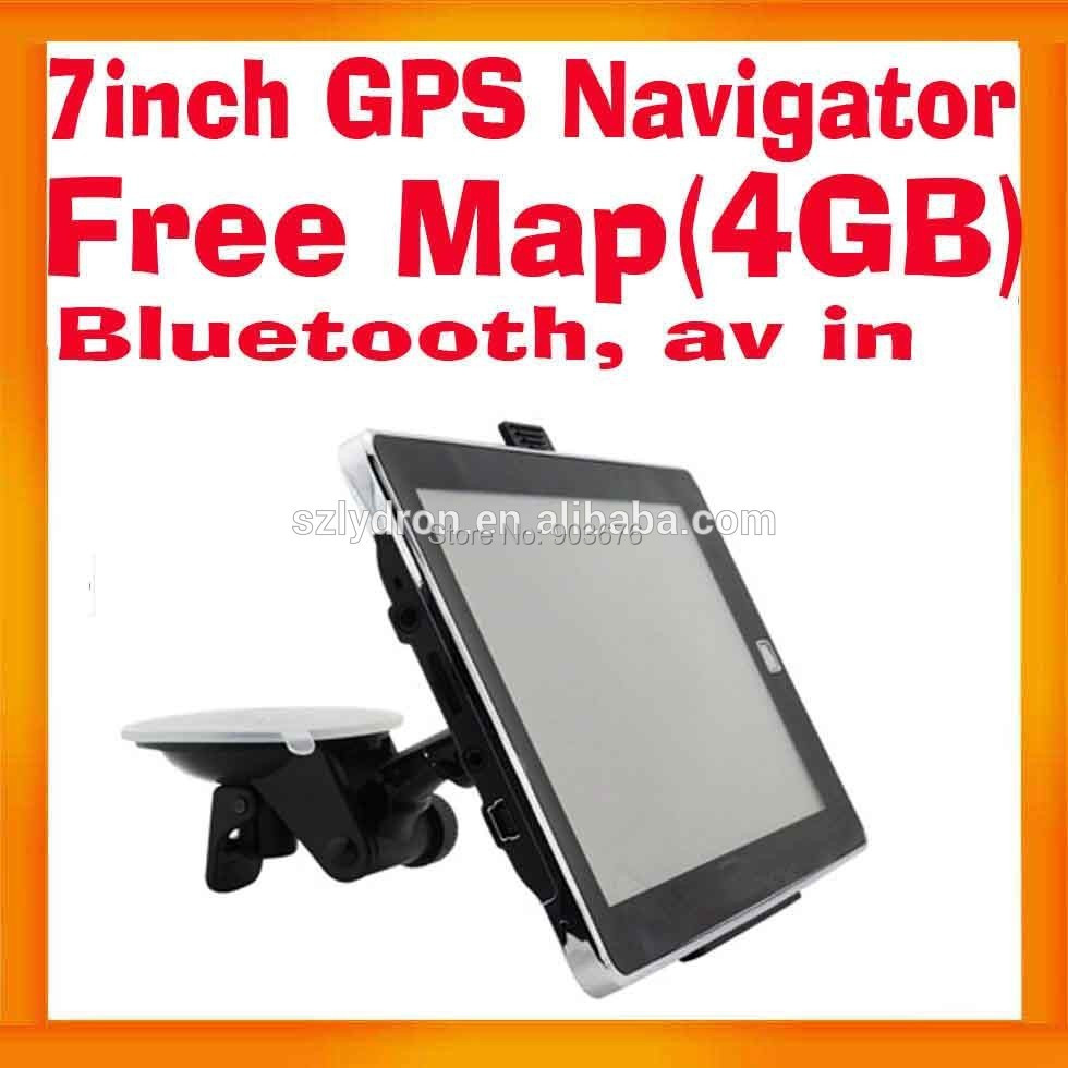 GPS-навигатор 7 GPS + 4 TF + Bluetooth + av + Wince 6.0 5pcs av 710 gps
