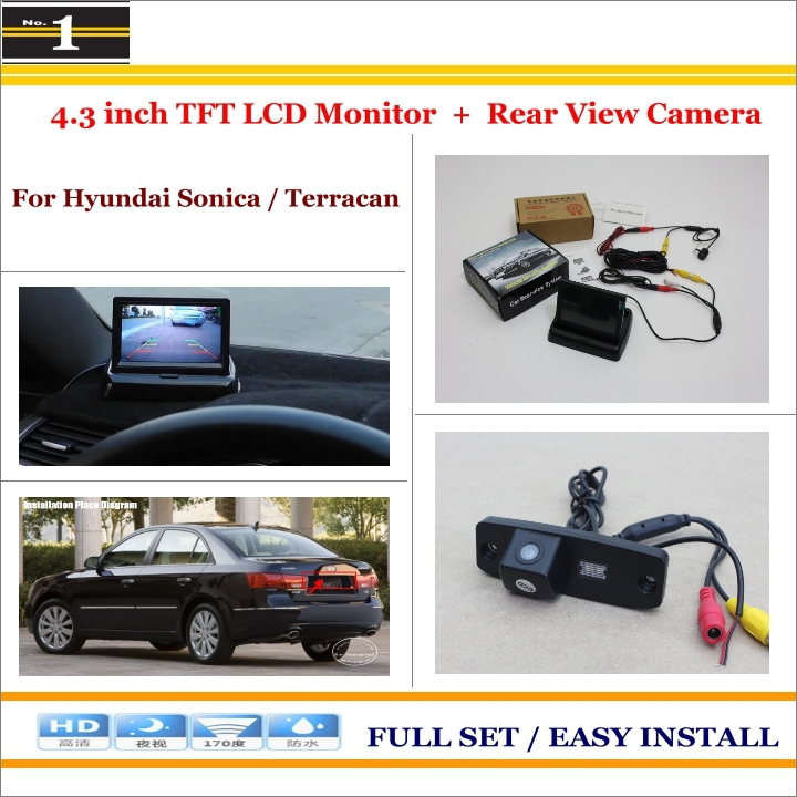 Car Rearview Camera + 4.3 LCD Screen Monitor = 2 in 1 Parking Assistance System - For Hyundai Sonica / Terracan<br><br>Aliexpress