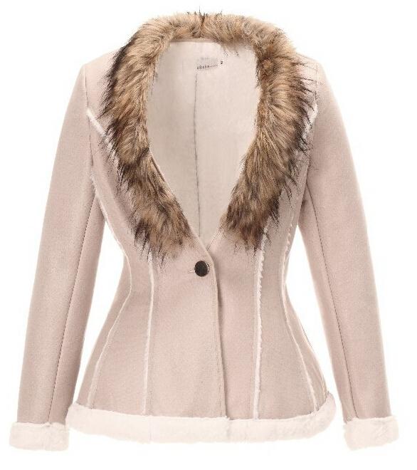 W.ZXS Hot Selling NEW 2014 Winter Coat Woman Full Collar V ...
