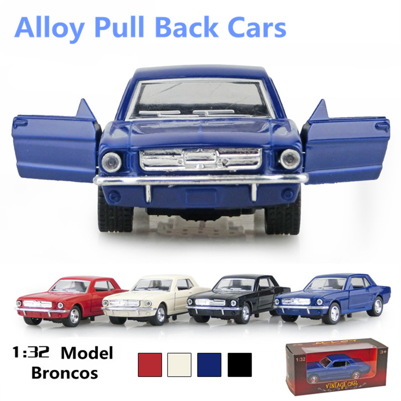 High simulation toy vintage car,1:32 alloy car models, pull back & Mustang car metal diecasts toy vehicles, free shipping(China (Mainland))