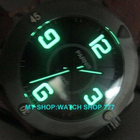 Сапфировое стекло 47 мм PARNIS Японский Автоматический Self-ветер движение мужские часы Механические Наручные Часы PVD кофе чехол