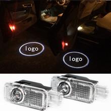 2 X LED Car Door Welcome Light Laser Car Door Shadow led Projector For Volkswagen VW Passat B5 B5.5 Phaeton(China (Mainland))