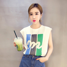 2016 Women's Casual Tank Camis New Summer Fashion Printed Crop Clothing Sleeveless Tops Free Shipping