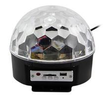 Перемещение головы лазерный проектор звуковые огни цифровой RGB из светодиодов кристалл магический шар DMX сценический эффект диско домашних развлечений