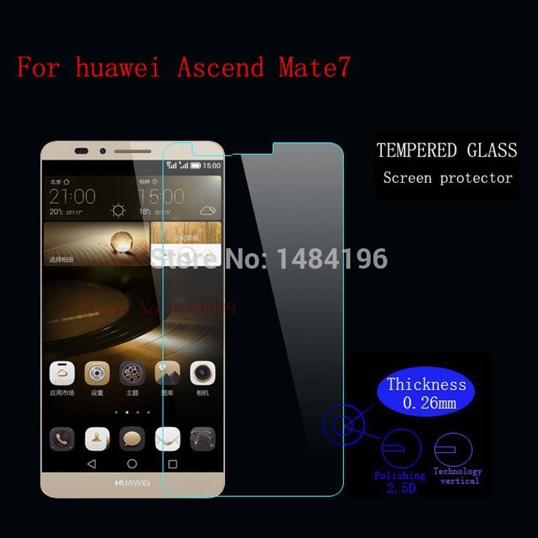 9H Tempered Glass Screen Protector Guard film Huawei Ascend Mate 2 7 8 S P6 P7 P8 lite/mini glass +Safe Package - Jinfan E-Commerce Co., Ltd. store
