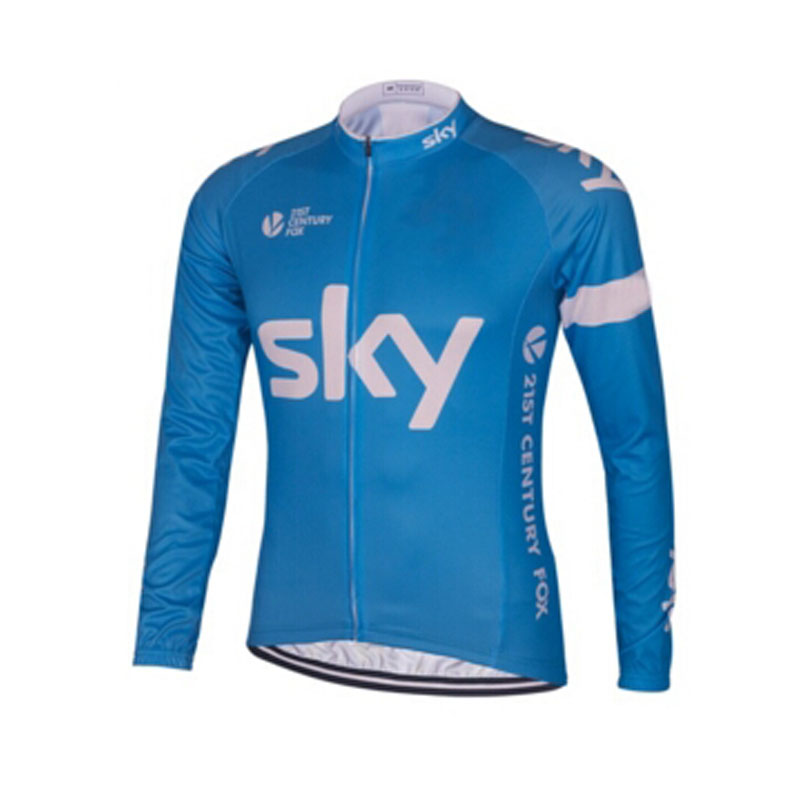 HOT Team sky Cycling long jersey bike winter thermal fleece long sleeve bike clothing MTB bicycling maillot Culotte 4 style(China (Mainland))