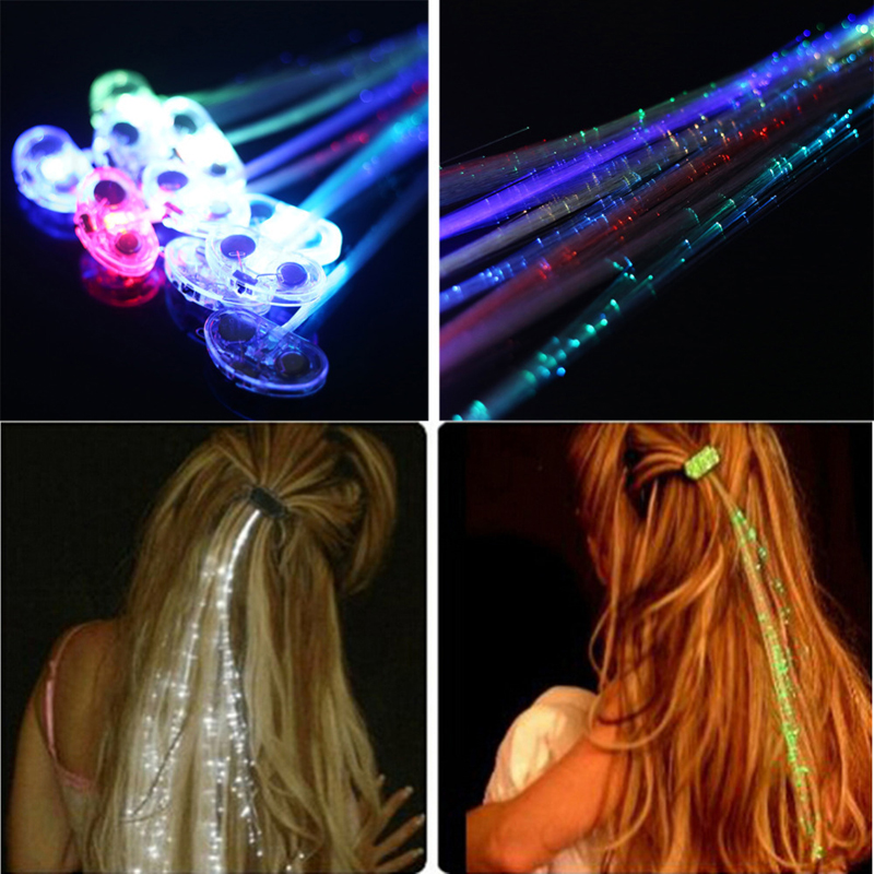Newest Colorful Flash LED Hair Braid Light Emitting Clip Hairpin Decoration For Show Party Supplies Hair Accessory Headdress(China (Mainland))