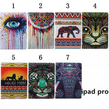 New Arrived Cartoon Flower PU Leather Case Cover For Apple iPad Pro 12.9″ inch Tablet Protect Shell 1PCS