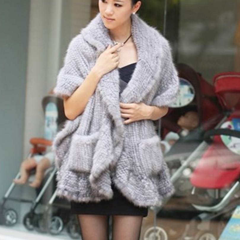 Fashion weaved mink fur women scarves shawls 4 colors long style soft warm ladies girls winter scarf gifts for lover friends