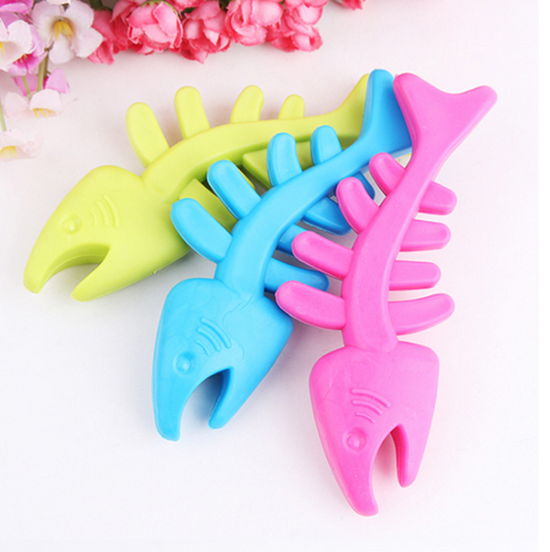New Pet dog products TPR rubber pet toys,dog toys,toys,bite-resistant fish bones toys molar tooth care free shipping B53()