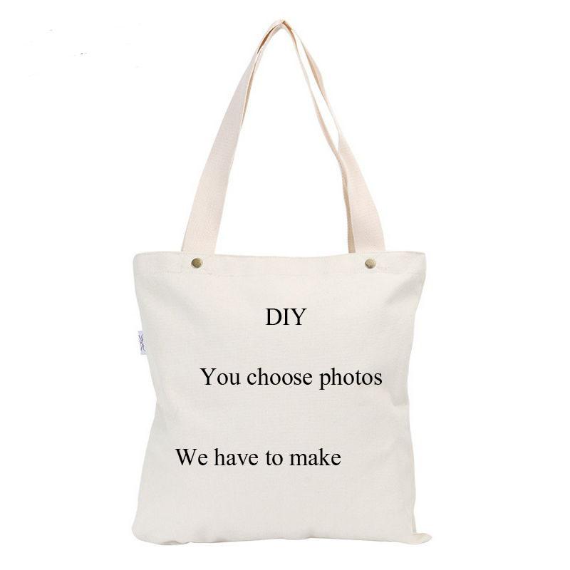 Personal Tailor Canvas Bag DIY Custom Handmade You Design The Picture I Will Make Handbags high quality(China (Mainland))