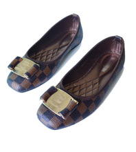 The new European style flat square bow shoes leisure shoes size 928 68