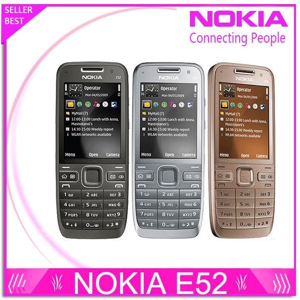 Refurbished E52 Original Nokia E52 WIFI GPS JAVA 3G Unlocked Mobile Phone handset russian keyboard phone Free Shipping(China (Mainland))