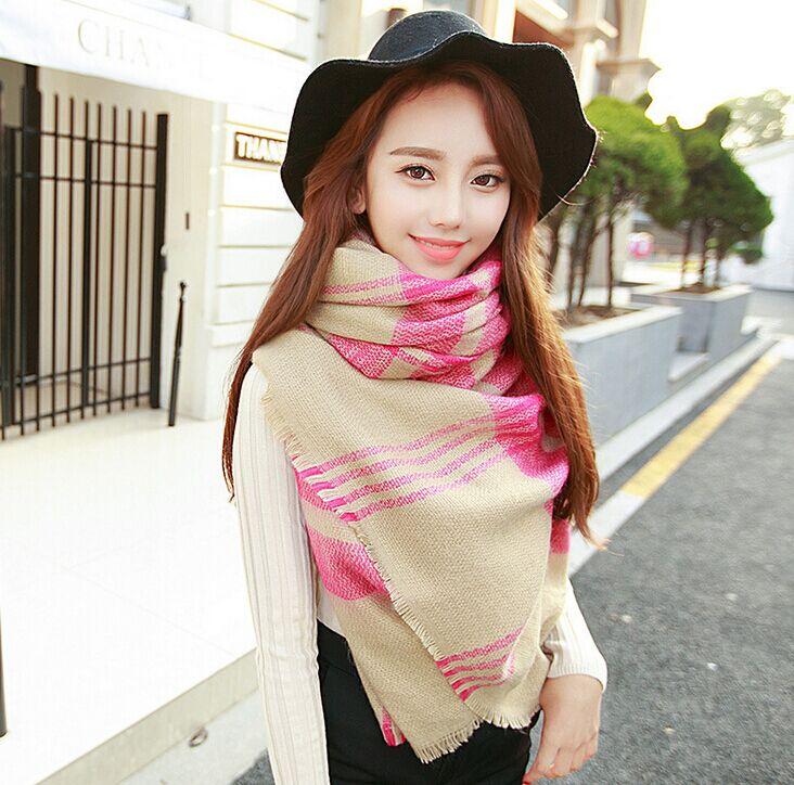 1 X Newest Lady Women Blanket Oversized font b Tartan b font Scarf Wrap Shawl Plaid
