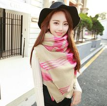1 X Newest Lady Women Blanket Oversized Tartan Scarf Wrap Shawl Plaid Cozy Checked Pashmina