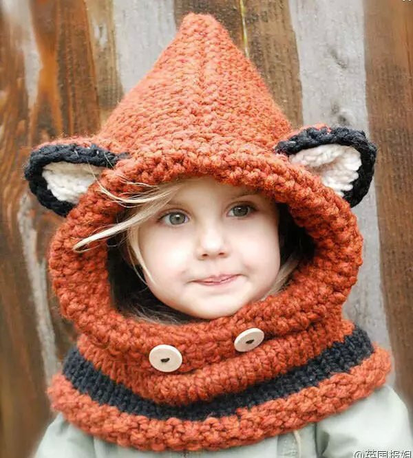 EMS DHL Free Shipping Wholesale 2015 New Design Fox Ear Winter Windproof Baby Hats And Scarf Set For Kids Boys Girls Shapka Caps<br><br>Aliexpress