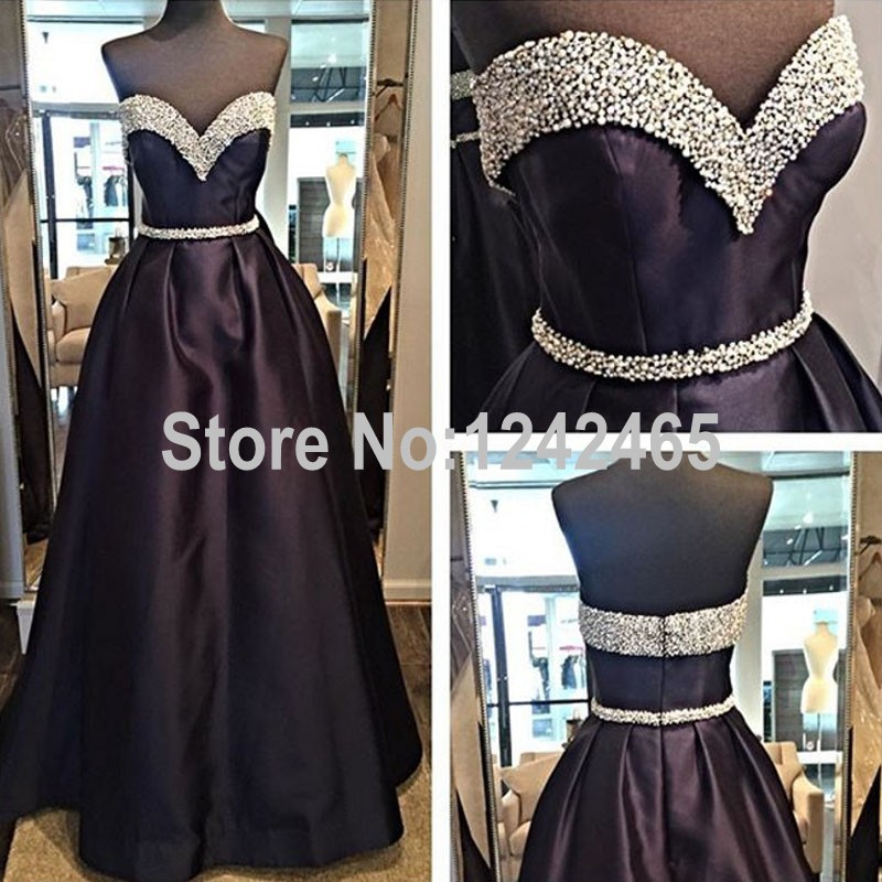 A Line Sweetheart Beaded Formal Evening Dress Long Floor Length Actual Image Indian Evening Gowns Shop Online QM151(China (Mainland))