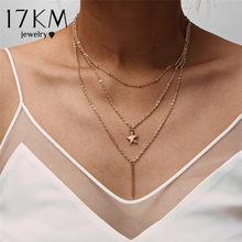 Nouveau multicouche cristal lune colliers et pendentifs pour les femmes Vintage charme or collier ras du cou 2019 bohème bijoux en gros(China)
