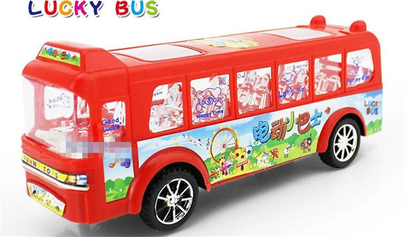 Light music universal electric buses Electric toy car model school buses children educational gift<br><br>Aliexpress