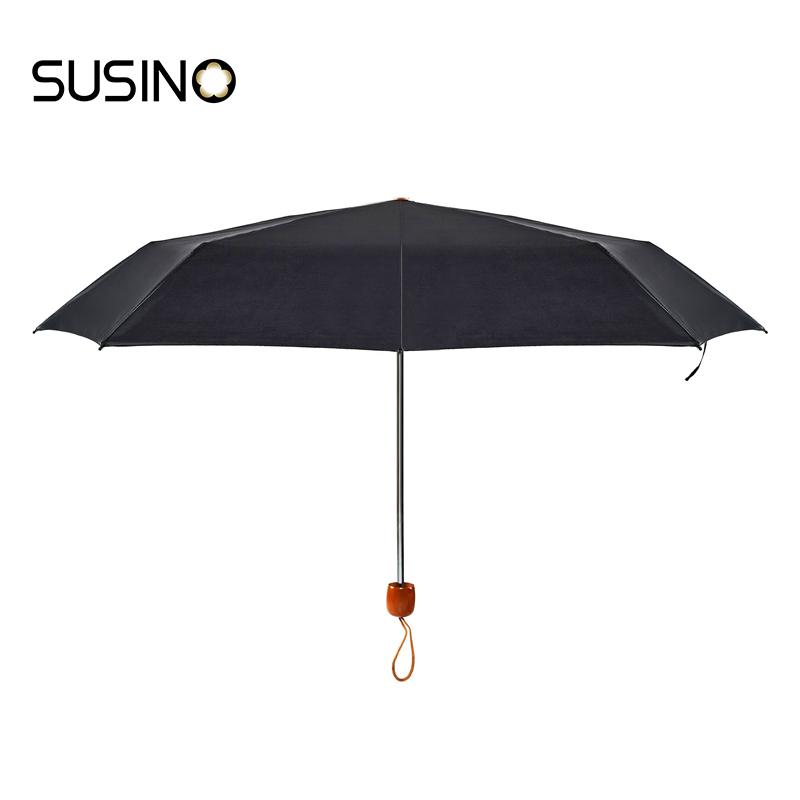 Susino Windproof Umbrellas Manual Open Sturty Metal Pongee Compact Durability Three-folding Umbrella 3401(China (Mainland))