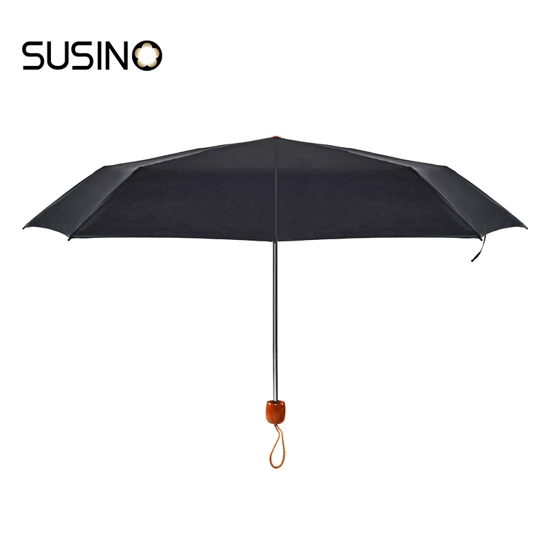 Susino Windproof Umbrellas Manual Open Sturty Metal Pongee Compact Durability Three-folding Umbrella 3401(China (Mainland))
