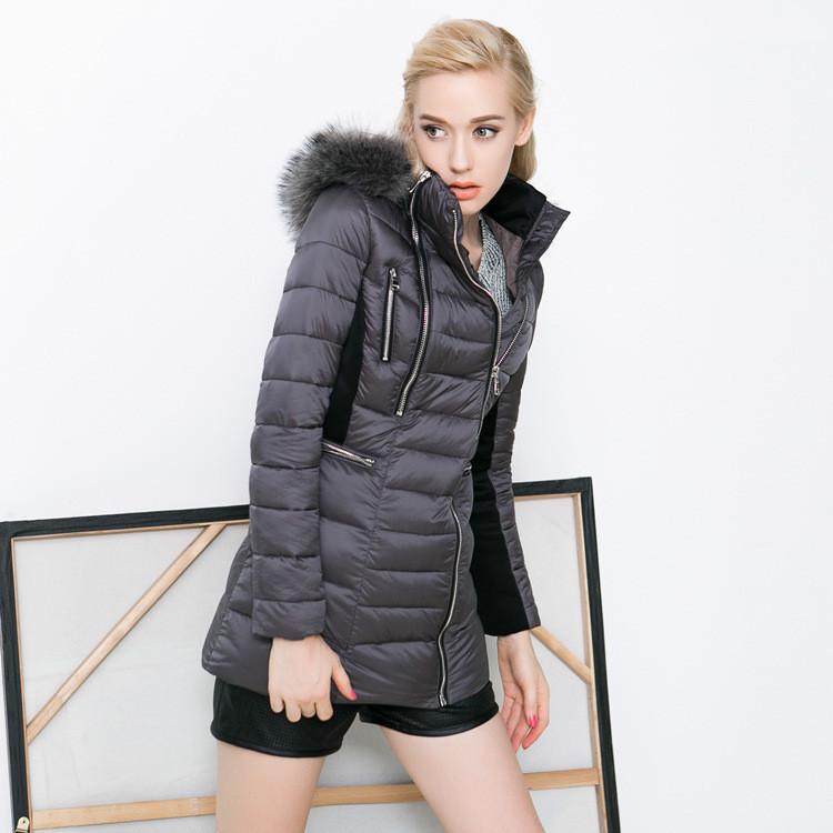 New Fashion Winter Jacket Women Thicken Warm Down Parkas Fur Collar Women Coat Female Outerwear Clothing Lady Casul Jacket HZ141