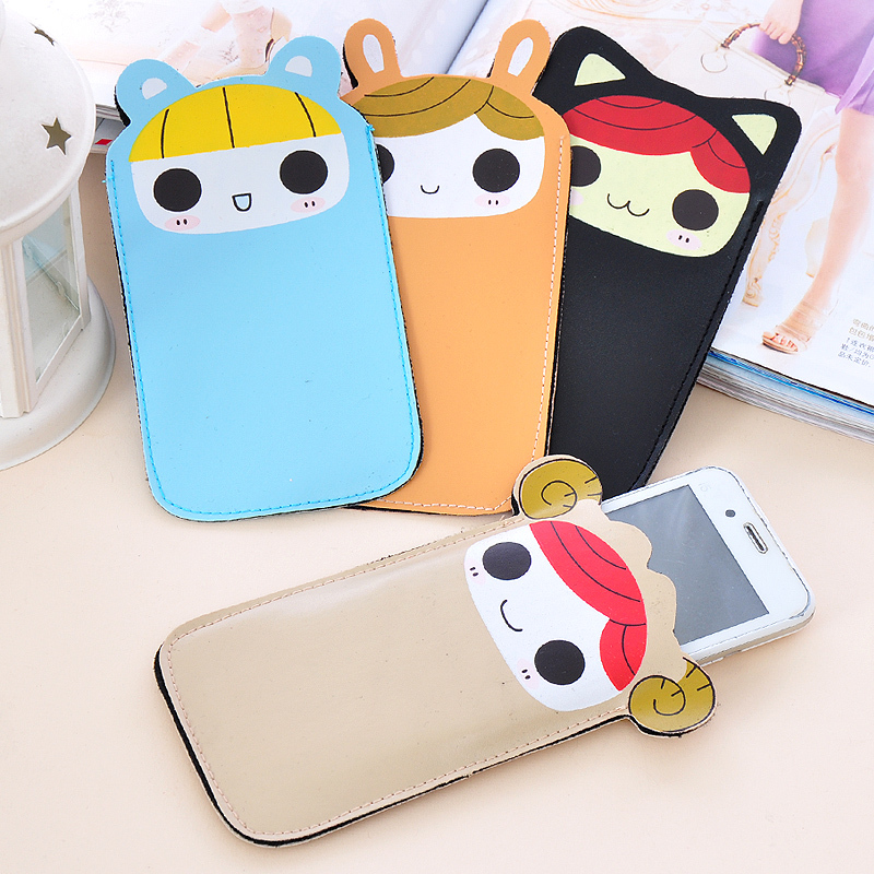 (Min order is $10) PU lourie mobile phone case cell phone pocket e071 protective case