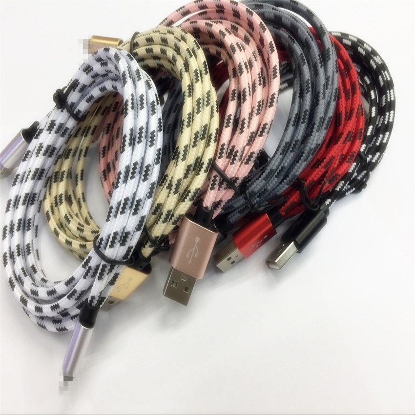 2017 Nylon Braid USB Charging Cable For iPhone 6 6s plus USB Cable Charger for iPhone 5s 5 iPad 4 mini Power Cord 8 Pin Wire(China (Mainland))