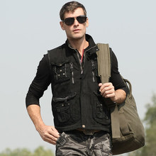 2016 Newest  Spring And Autumn Mens Outdoor Multi-Pocket Vest Photography Uniform Sleeveless Jacket Male Casual Waistcoat J716(China (Mainland))
