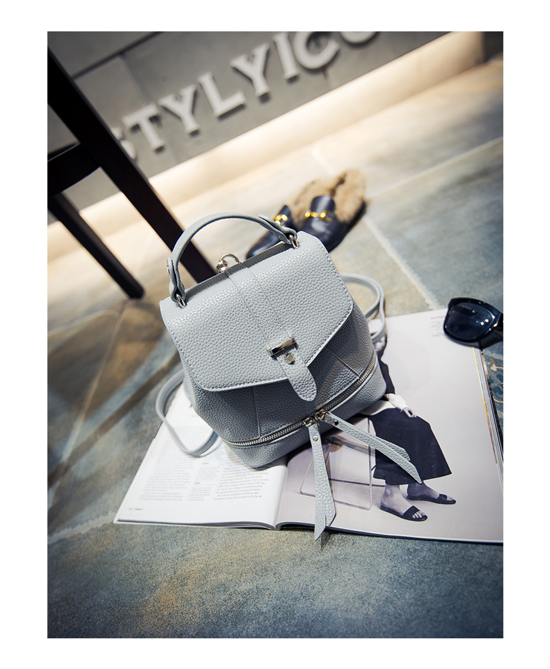 NEW Ladies Designer PU Leather Small Hand Bag Three Functional Small Packsack Daypack Belt Buckle Fashion Shoulder Bag