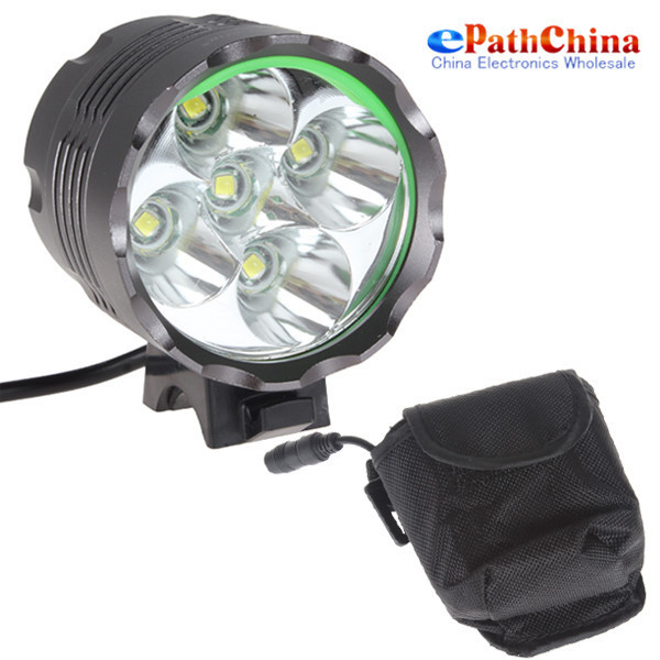 2Sets 5x CREE XML T6 6000 Lumen LED Bike Light Bicycle Lamp &amp; Headlamp Headlight With 8.4V 8000mAh Rechargeable Battery<br><br>Aliexpress