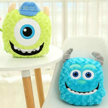Plush 1pc soft Monsters University Sulley Mike Wazowski office cushion + blanket stuffed toy creative romantic gift for baby