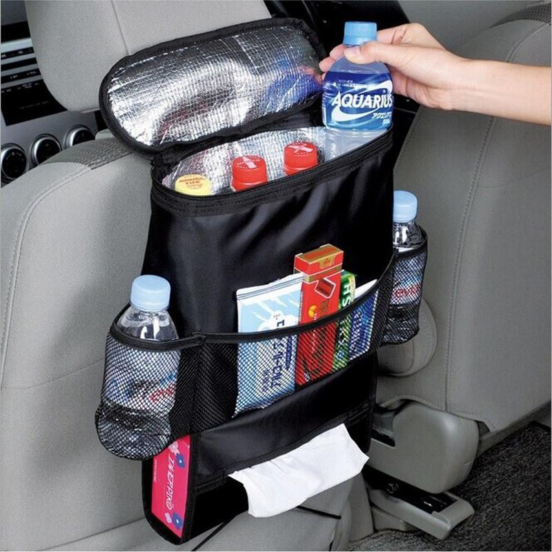 Vehicle Durable Car Auto Black Seat Back Multi-Pocket Storage Bag Pockets Organizer Travel Hanger Organizador Drop Shipping(China (Mainland))