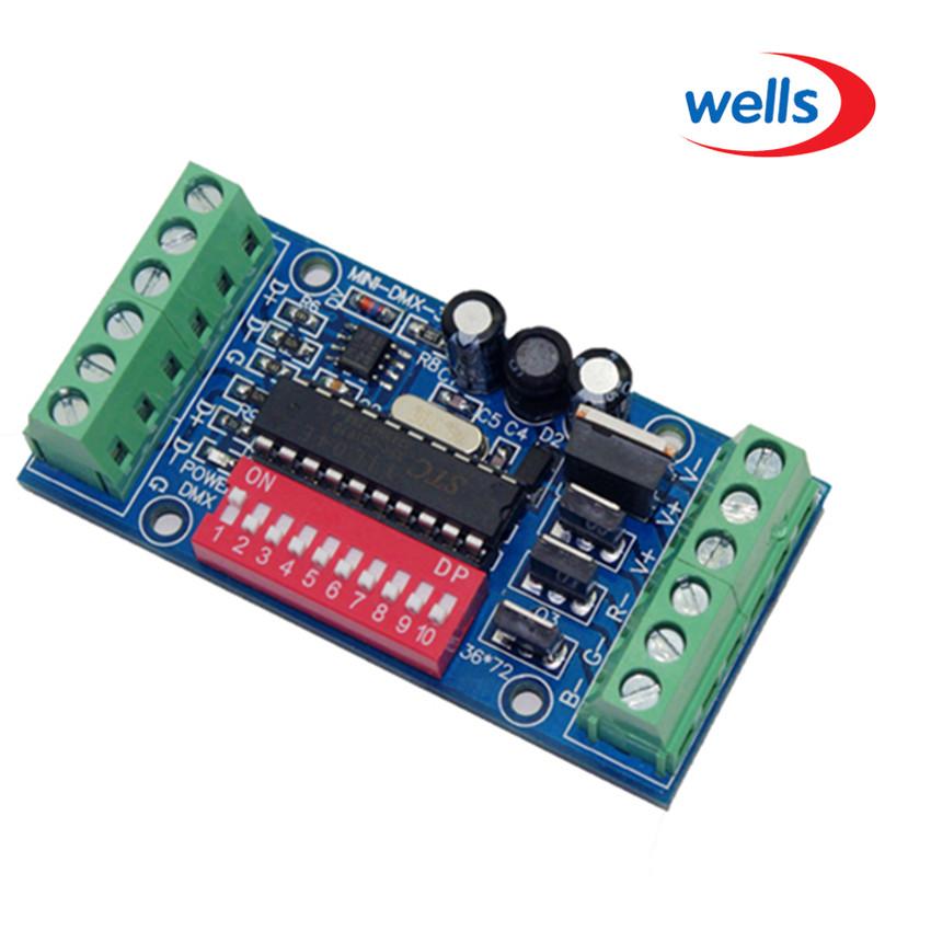 mini 3CH Easy dmx LED Controller,subminiature,RGB dmx512 decoder,DC5V-24V,for LED strip light(China (Mainland))