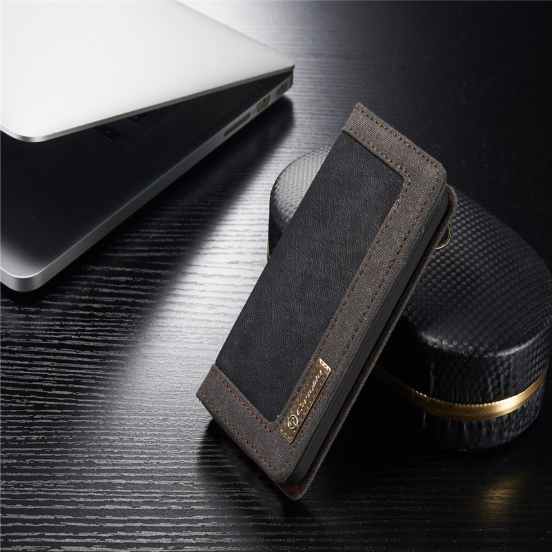 Luxury CaseMe Jeans+Leather Flip Wallet Card Mobile Phone Stand Case For iphone 5 5s se Cover Bags Business Enterprise style(China (Mainland))
