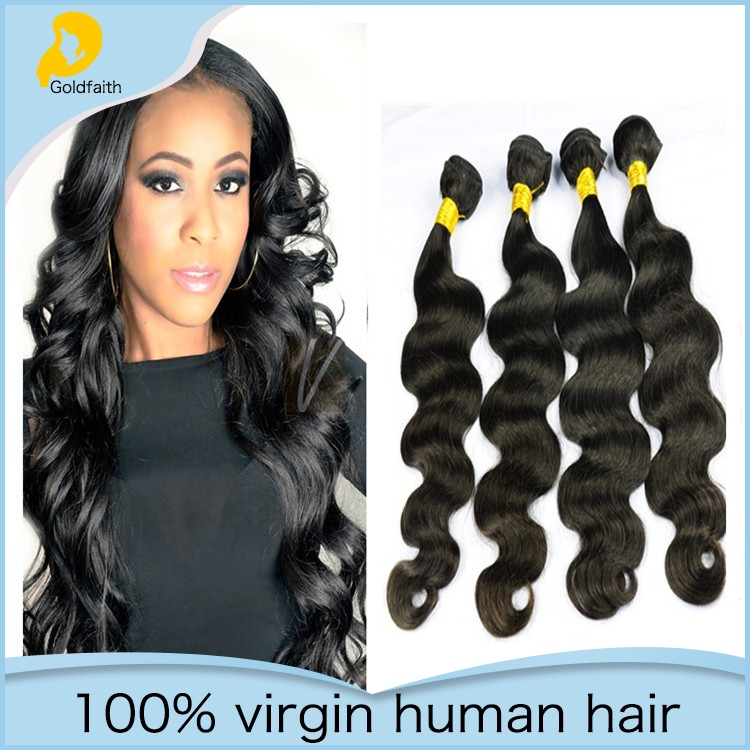 Brazilian Virgin Hair Body Wave Human Hair Weave 7A Unprocessed Brazilian Body Wave Four Bundles Hair Extensions(China (Mainland))