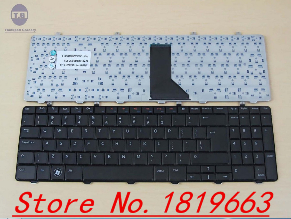 NEW Genuine For Dell Inspiron 1564 Series laptop US black Keyboard XHKKF(China (Mainland))