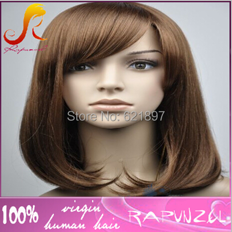 6A grade top quality Brazilian hair front lace wig with bangs <br><br>Aliexpress