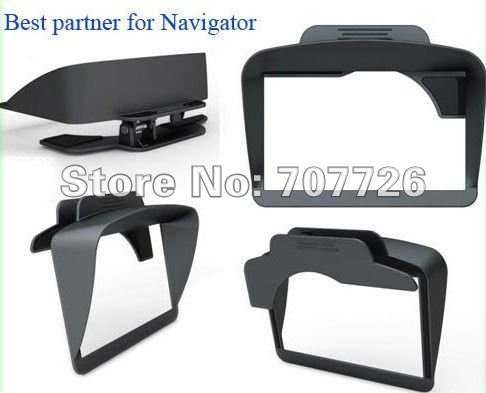 "7"" inch GPS accessories parts  car GPS navigation universal sunshade sun shade Best partner for navigator"
