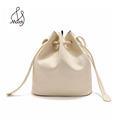 Casual Vintage Women Crossbody Barrel Shaped Travel Pulling Rope Bag Mini Bags Handbags Pu Leather Barrel