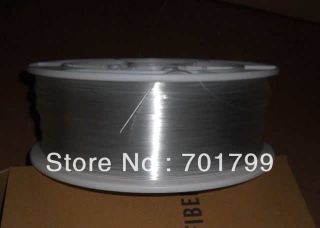 one roll PMMA optic fiber for lighting;clear color;inner Dia(mm):1.5mm;Outer Dia(mm):1.5mm;700m/roll;P/N:EK-150