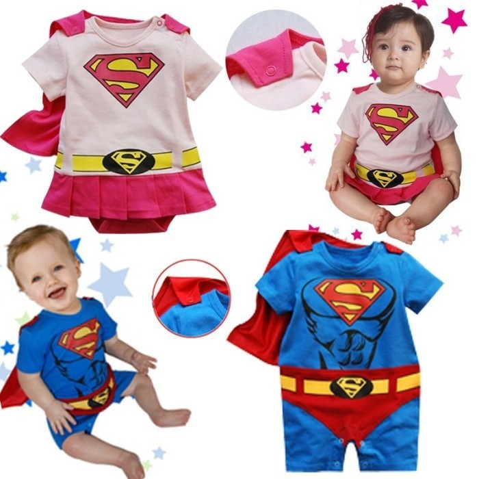 Baby Boy Girls Romper Superman Short Sleeve Smock Halloween Christmas Costume Cotton Jumpsuits Spring Newborn Infant Clothing(China (Mainland))