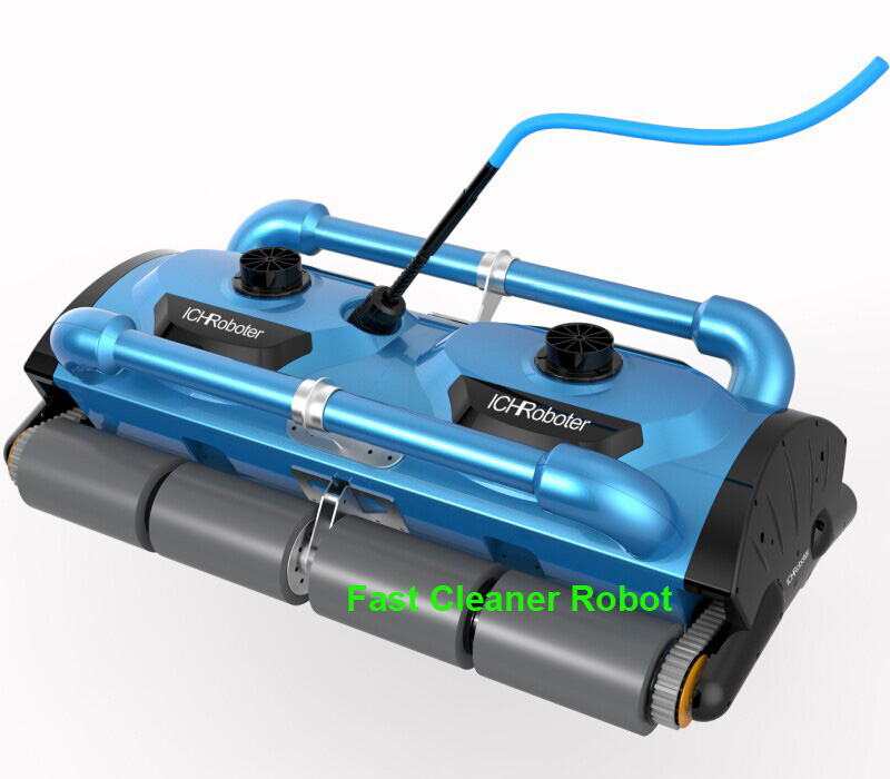 High efficiency ,Commercial Use Swimming Pool Robotic Vacuum Cleaner with cleaning capacity for 1000m2 big Pool and Caddy cart(China (Mainland))