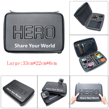 Go pro L Size New Travel Storage Collection Waterproof Bag Case for GoPro Hero 4/3+/3/2 SJ4000/SJ5000 Action Camera Accessories